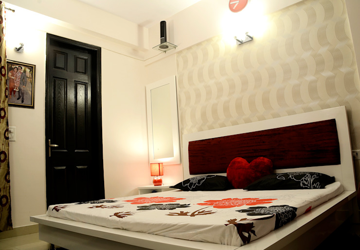 Arihant Ambience Apartment. Mediterranean style bedroom by Decor At Door Mediterranean