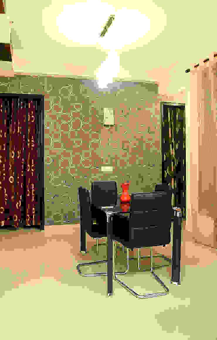 Arihant Ambience Apartment. Mediterranean style dining room by Decor At Door Mediterranean