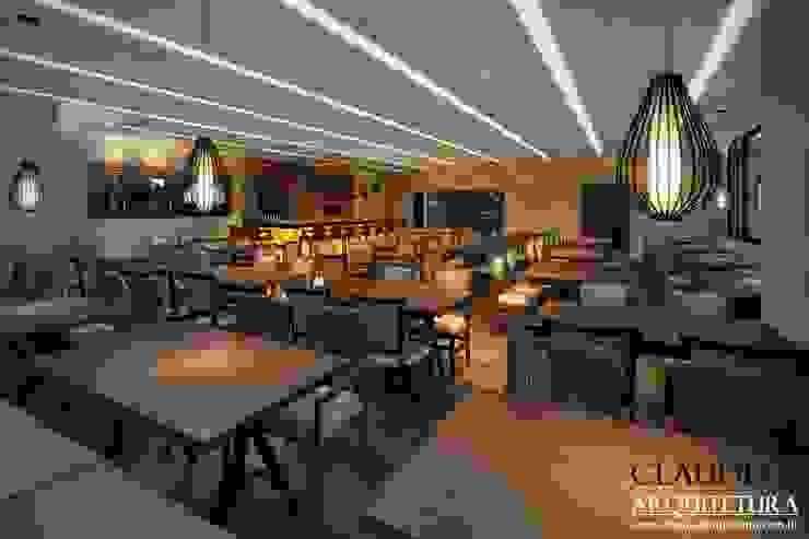 Projeto Comercial Salas de jantar modernas por Cláudia F Arquitetura Moderno