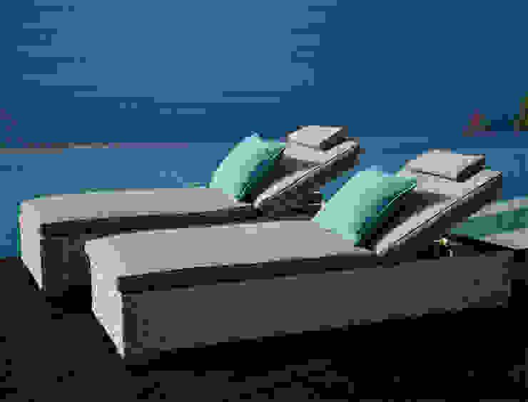 Projekty,   zaprojektowane przez Villa tectona GmbH, Nowoczesny Ratan Turkusowy