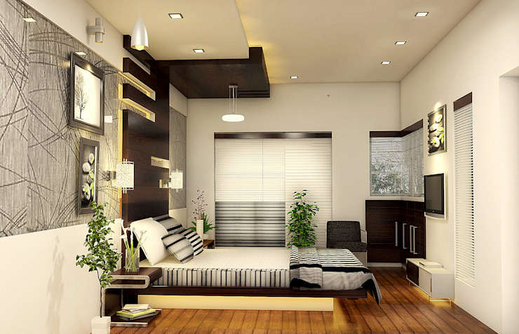 Bedroom Design Modern style bedroom by BN Architects Modern