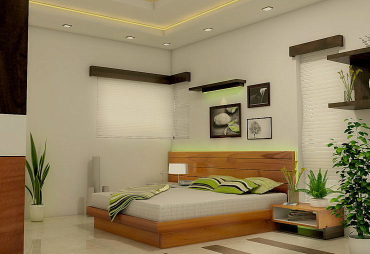 Bedroom Modern style bedroom by BN Architects Modern