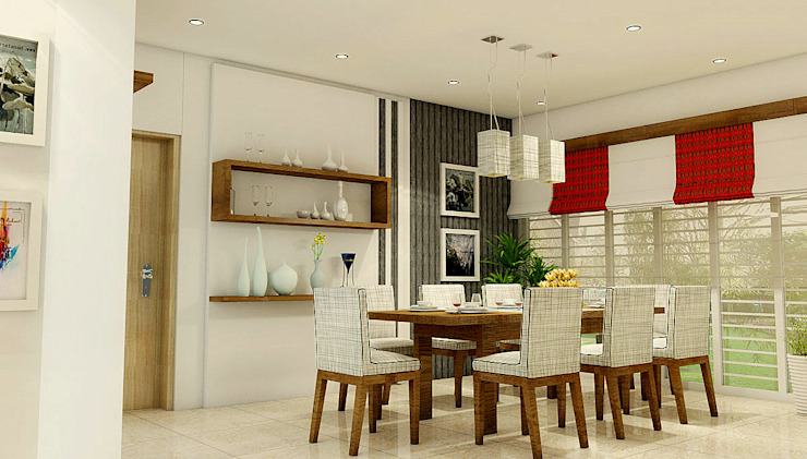 Dining Space Modern dining room by BN Architects Modern