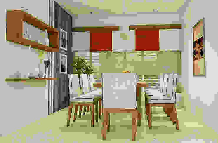 BN Architects Ruang Makan Modern