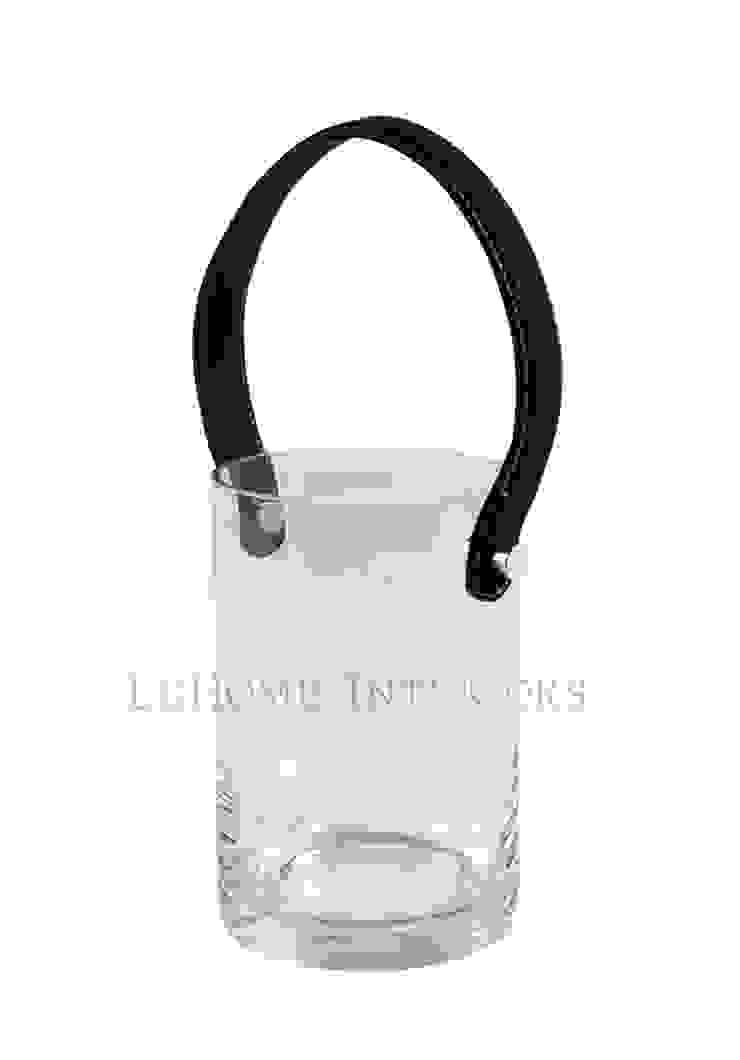 Подсвечник с кожаной ручкой H102 от LeHome Interiors Классический Стекло