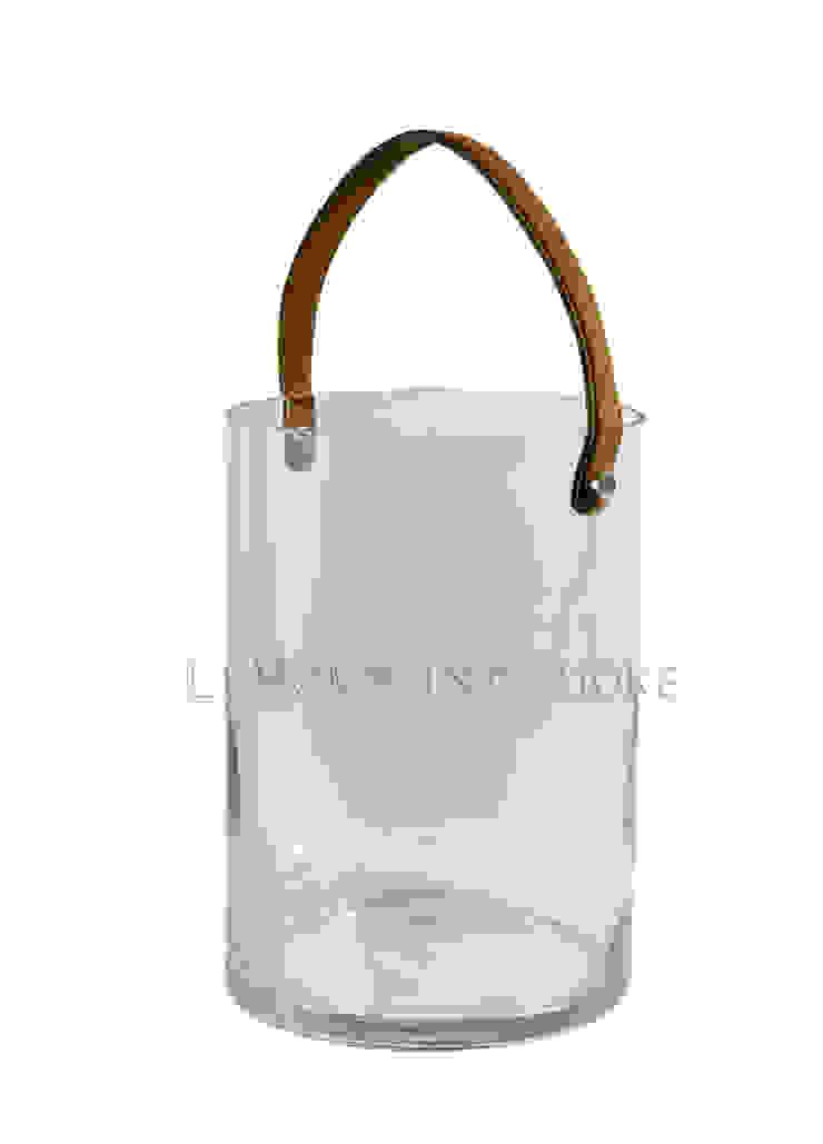 Подсвечник с кожаной ручкой H103 от LeHome Interiors Классический Стекло