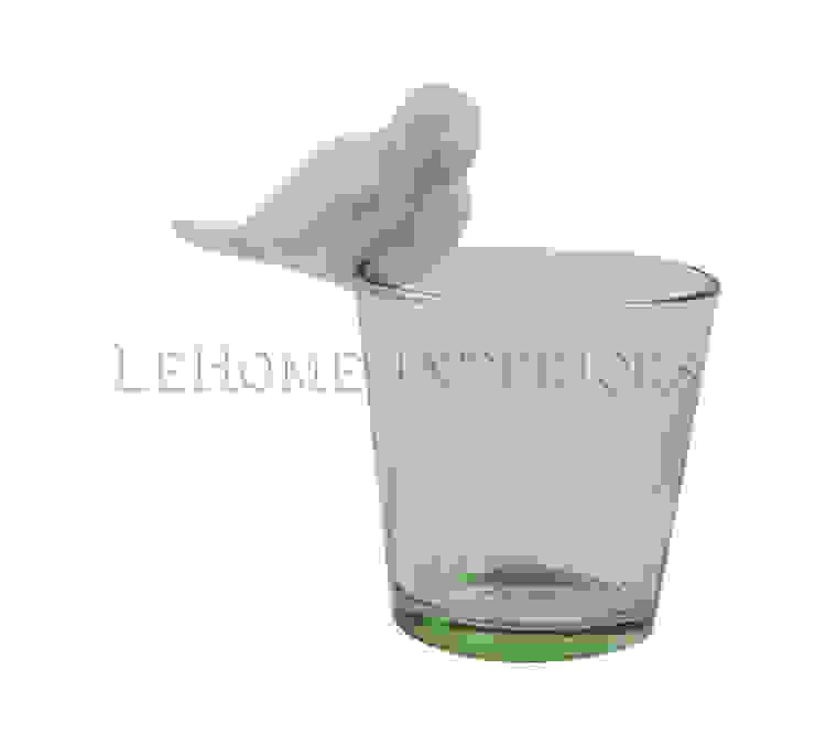 Подсвечник стеклянный с птичкой H108 от LeHome Interiors Классический Стекло
