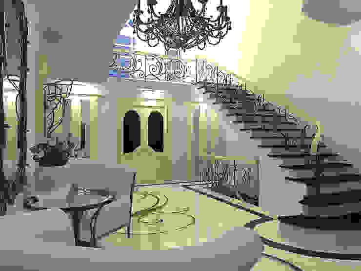 Холл загородного дома в стиле Ар-деко Коридор, прихожая и лестница в азиатском стиле от ООО 'Бастет' Азиатский