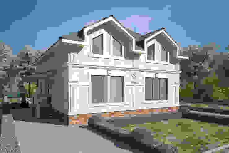 Коттеджи Дома в классическом стиле от Студия Ксении Седой Классический Песчаник
