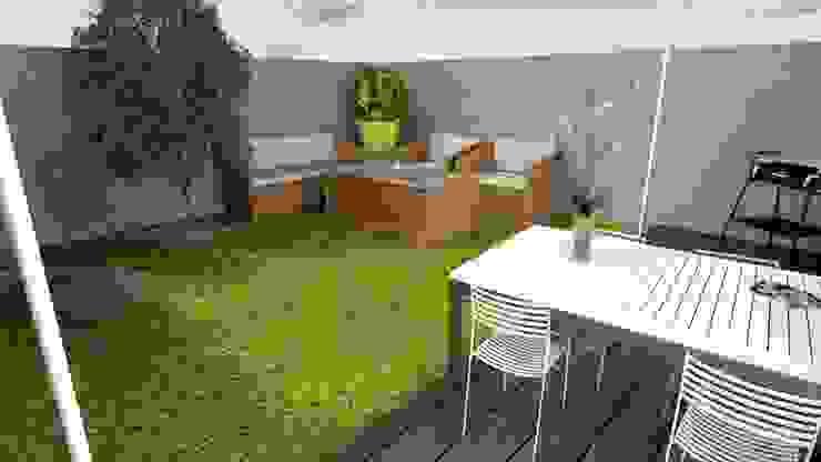 Maison de ville 65 m² Jardin moderne par Agence 3Dimensions Moderne