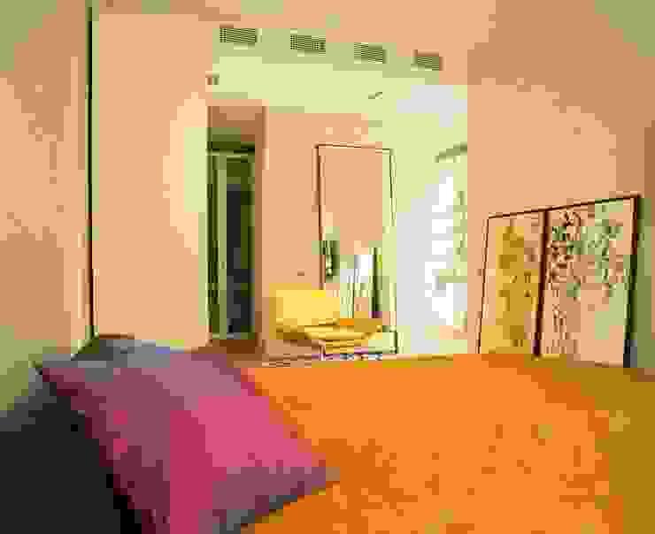 Квартира в ЖК Новая звезда Спальня в стиле минимализм от ASASH Минимализм