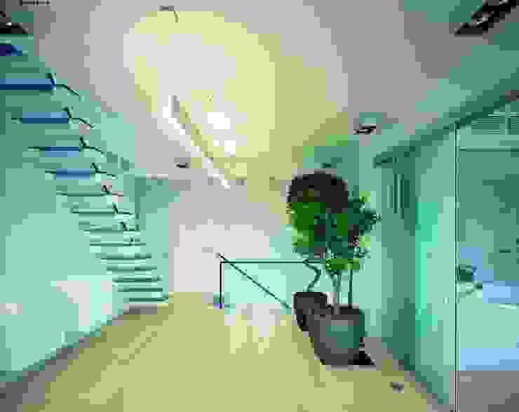 Квартира в Старо -Толмачевском переулке Коридор, прихожая и лестница в стиле минимализм от ASASH Минимализм