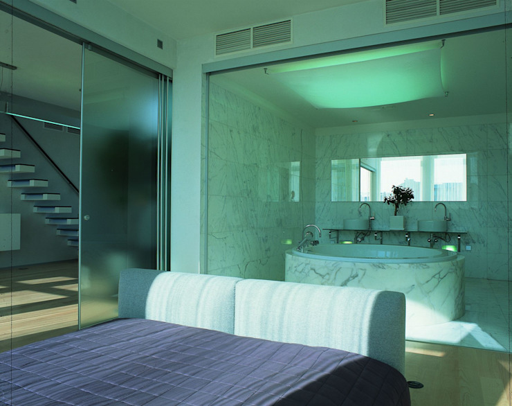 Квартира в Старо -Толмачевском переулке Ванная комната в стиле минимализм от ASASH Минимализм