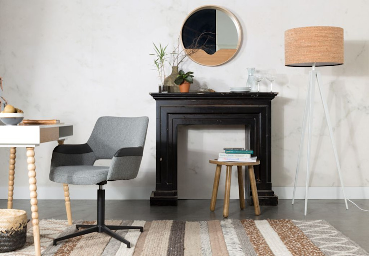 Syl stoel - Zuiver: modern  door Robin Design, Modern Textiel Amber / Goud