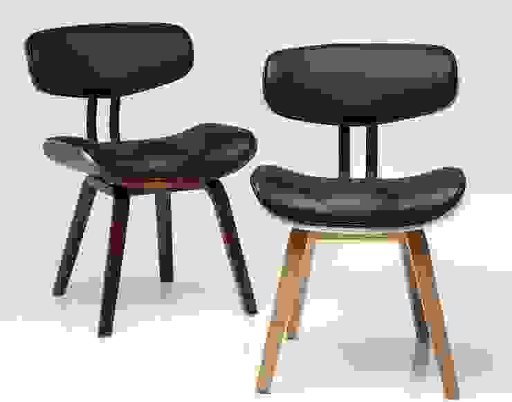 Patron stoel - Kare Design: modern  door Robin Design, Modern Kunstleer Metallic / Zilver