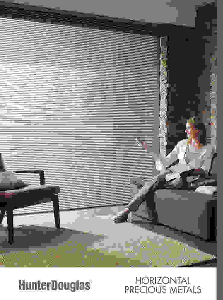 Horizontal de Aluminio Salas multimedia minimalistas de Dekorier Interiores Minimalista Aluminio/Cinc
