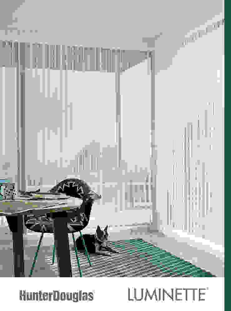 Luminette Salones minimalistas de Dekorier Interiores Minimalista Textil Ámbar/Dorado