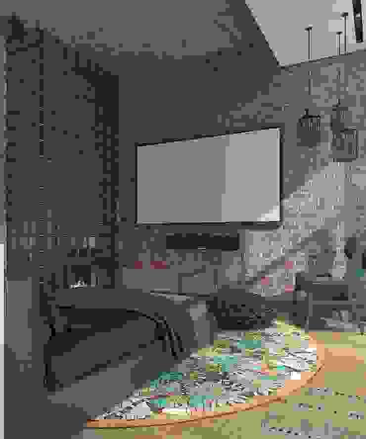 Depre Loft Спальня в стиле лофт от FEDOROVICH Interior Лофт Стекло
