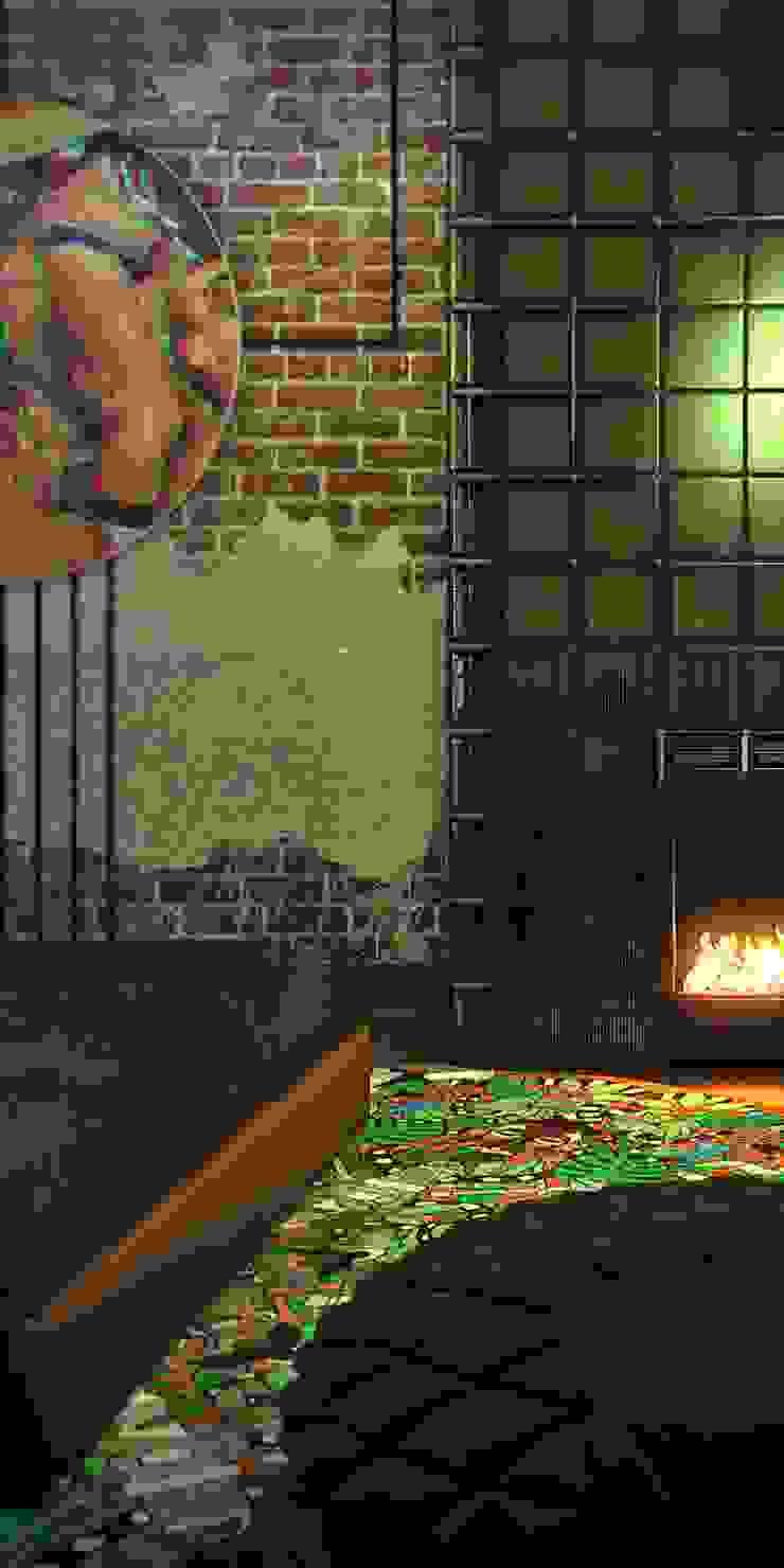 Depre Loft Спальня в стиле лофт от FEDOROVICH Interior Лофт Кирпичи