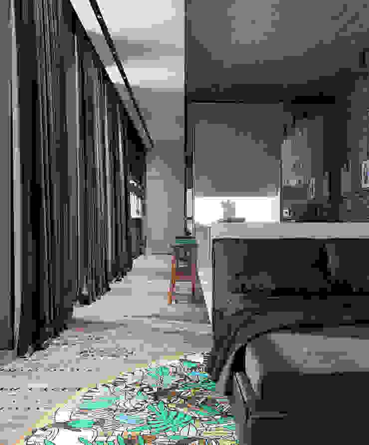 Depre Loft Коридор, прихожая и лестница в стиле лофт от FEDOROVICH Interior Лофт Текстиль Янтарный / Золотой