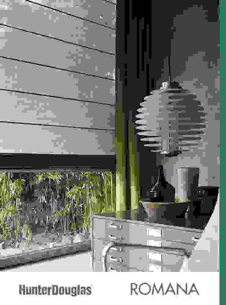 Romanas Comedores minimalistas de Dekorier Interiores Minimalista Textil Ámbar/Dorado