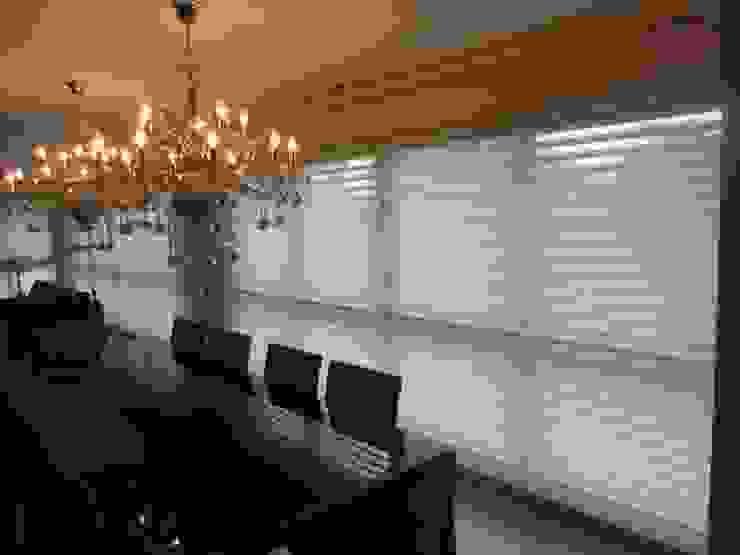 Dekorier Interiores Minimalist dining room Textile Multicolored