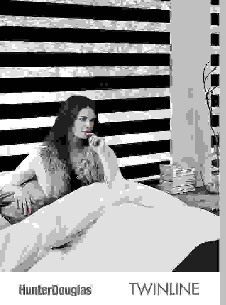 Twinline Dormitorios minimalistas de Dekorier Interiores Minimalista Textil Ámbar/Dorado