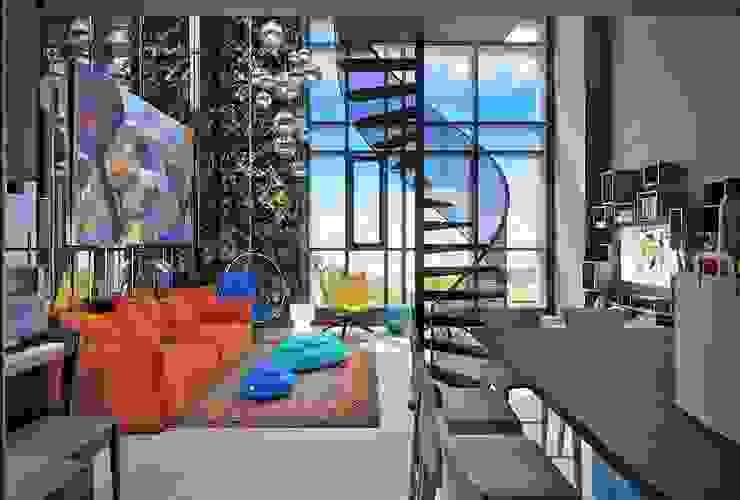 TriBeCa Гостиная в стиле лофт от FEDOROVICH Interior Лофт Стекло