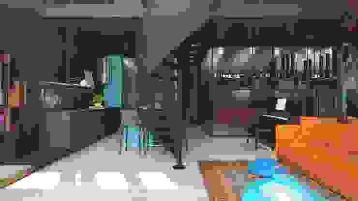 TriBeCa Кухня в стиле лофт от FEDOROVICH Interior Лофт Плитка