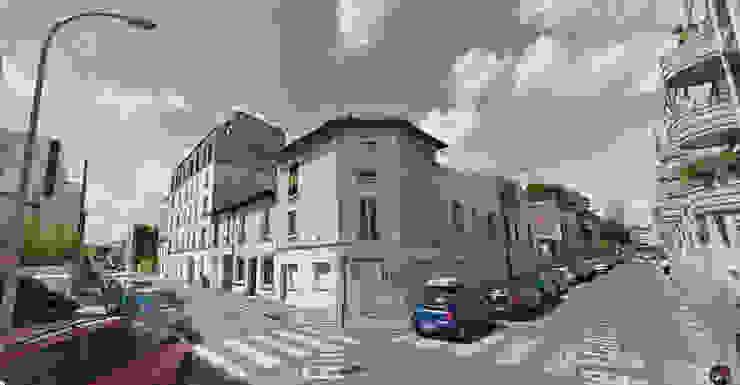 L'immeuble après le projet Maisons modernes par AADD+ Moderne