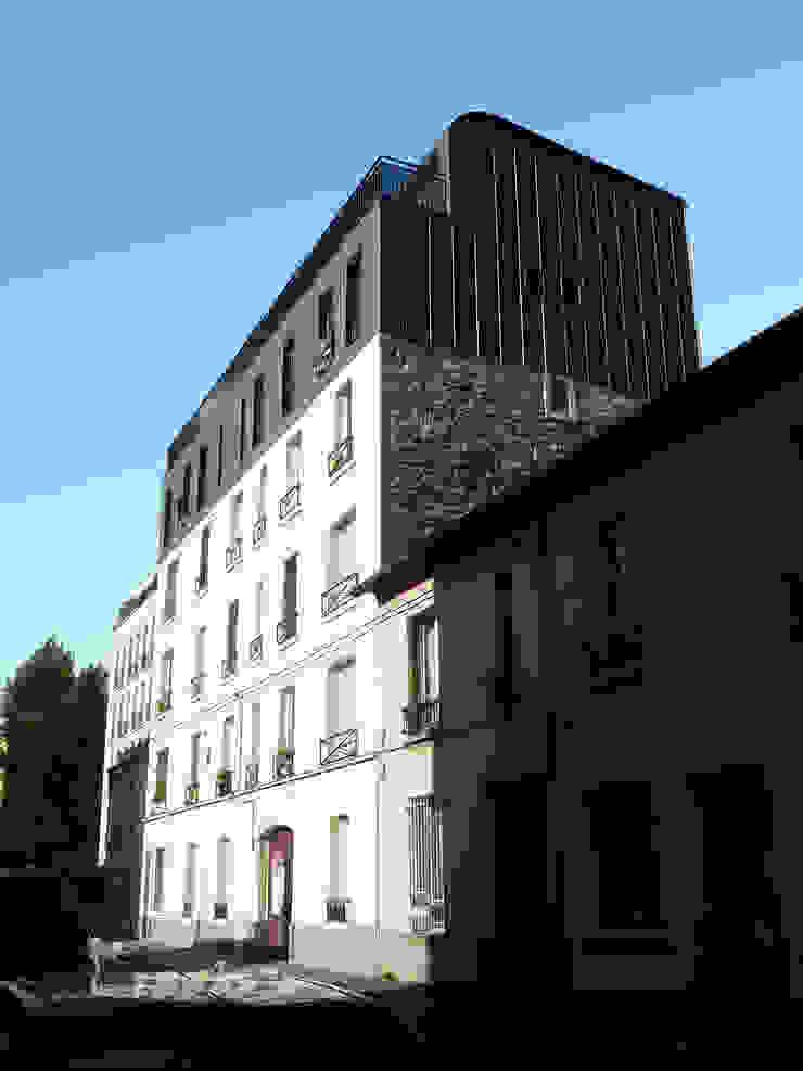 Sur-élevation à ossature Bois - Montreuil Maisons modernes par AADD+ Moderne