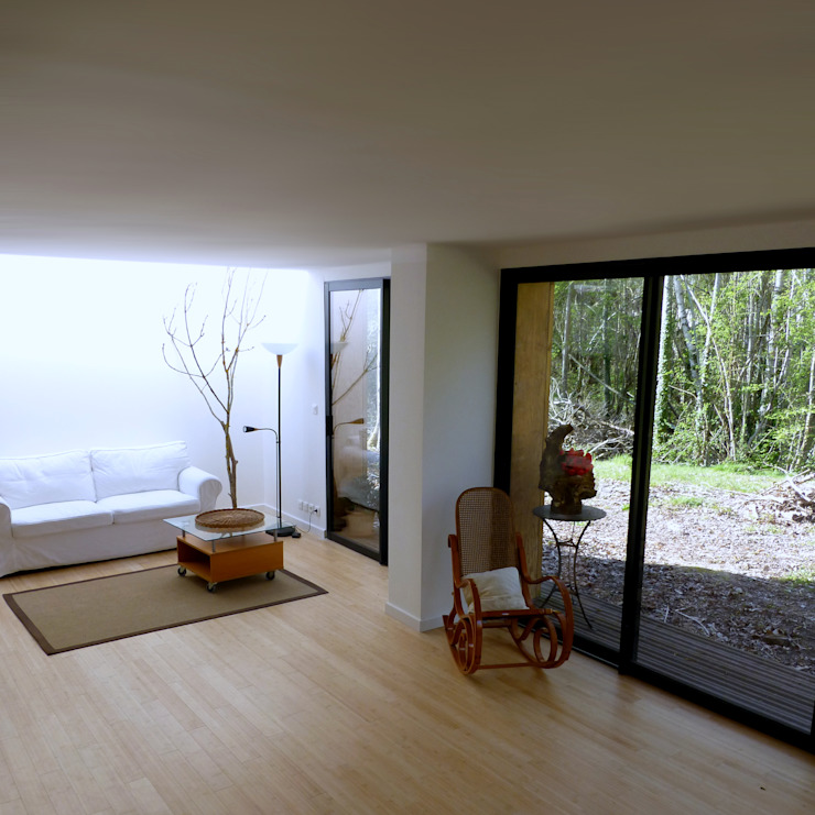 Un Loft à l'Orée du Bois Salle à manger minimaliste par AADD+ Minimaliste