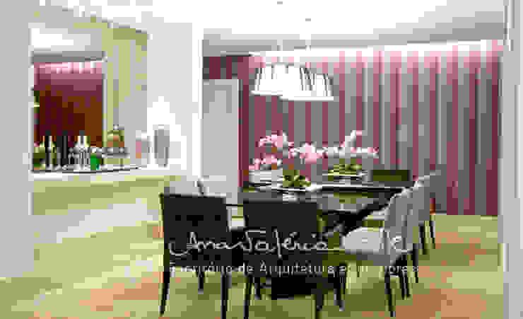 Casa Lago Sul Salas de jantar modernas por Ana Valeria Valle Moderno
