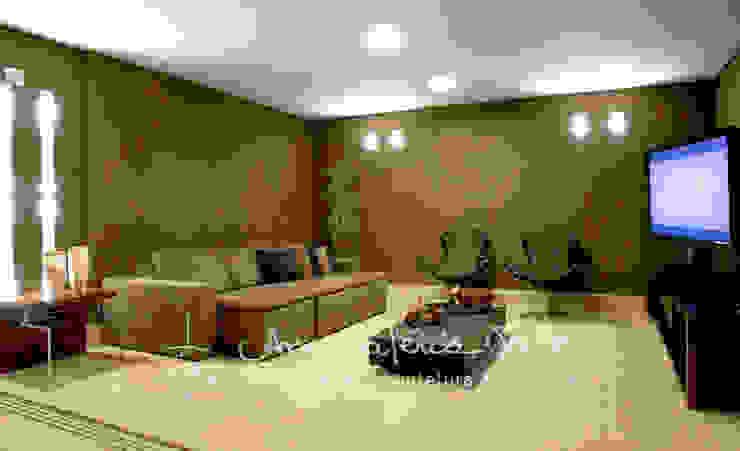 Casa Lago Sul Salas de estar modernas por Ana Valeria Valle Moderno