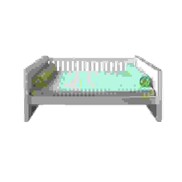 Cama Infantil / Juvenil Beabá Branco / Carvalho por INTERCASA MÓVEIS INFANTIS E JUVENIS Moderno Madeira Efeito de madeira