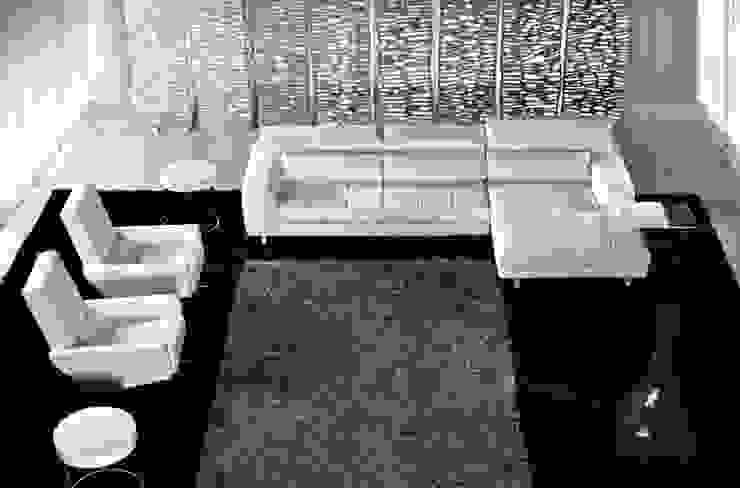 Sofás por Intense mobiliário e interiores; Moderno Pele Cinzento
