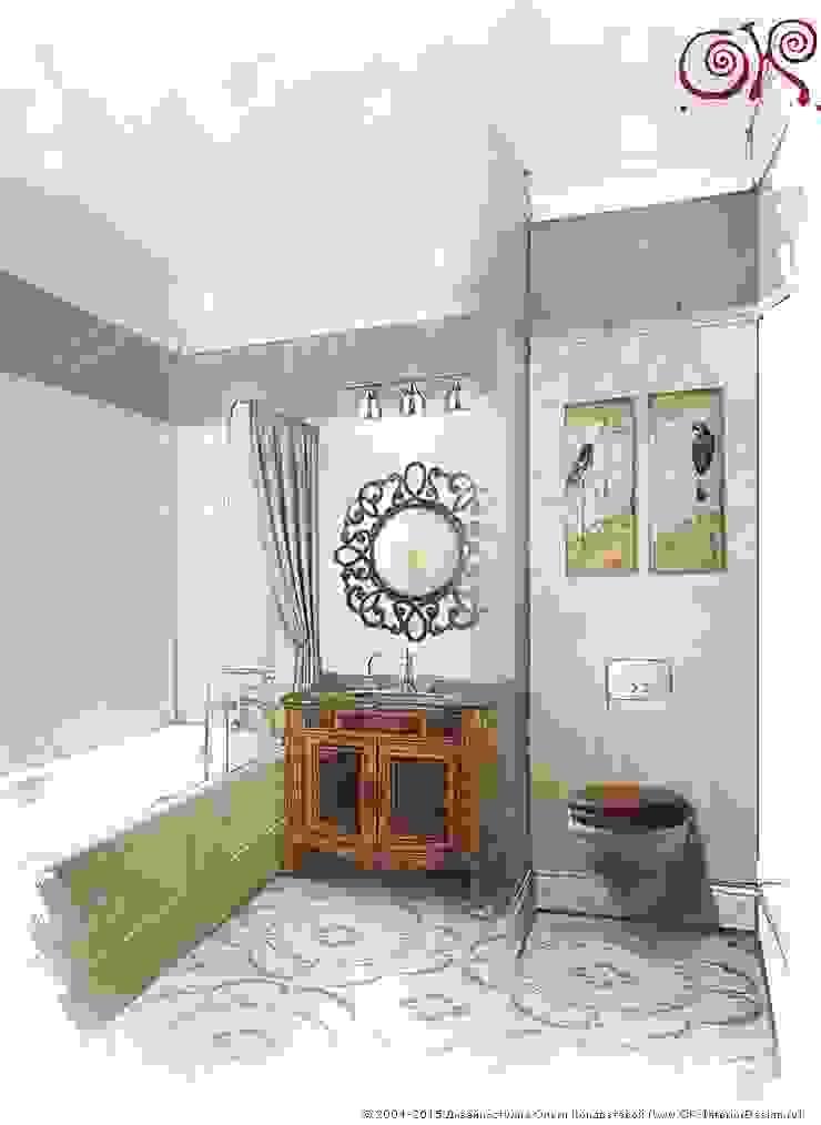 Дизайн квартиры в подарок матери: Ванная комната Ванная в классическом стиле от Дизайн студия Ольги Кондратовой Классический
