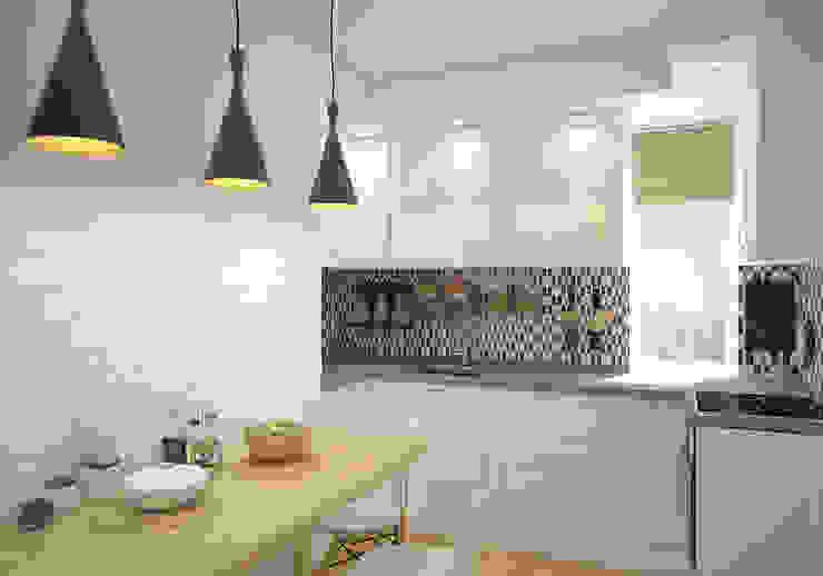 """Кухня. """"Московская Скандинавия"""" Кухня в скандинавском стиле от «Студия 3.14» Скандинавский"""