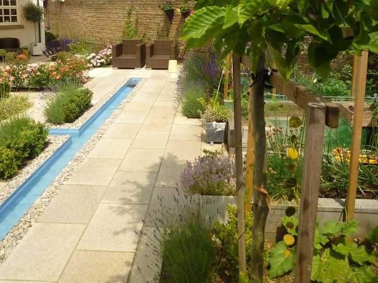 Church Mill Grange Aralia Asian style garden Stone Beige