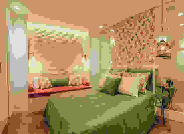 غرفة نوم تنفيذ Rosangela C Brandão Interiores