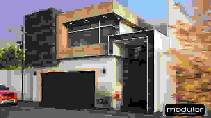 Fachada A224 Casas modernas de Modulor Arquitectura Moderno Piedra