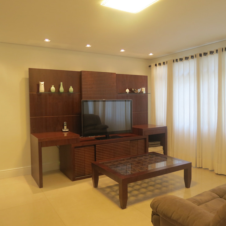 Sala de Estar Clean Salas de estar modernas por Danielle David Arquitetura Moderno