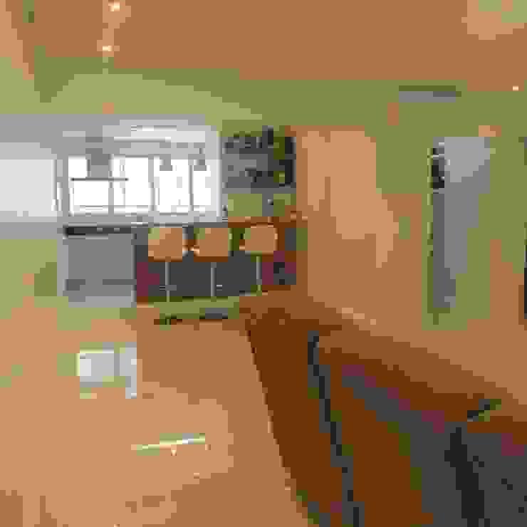 Sala de estar integrada Salas de estar modernas por Danielle David Arquitetura Moderno