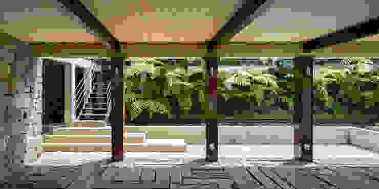 Couloir, entrée, escaliers modernes par TAAR / TALLER DE ARQUITECTURA DE ALTO RENDIMIENTO Moderne