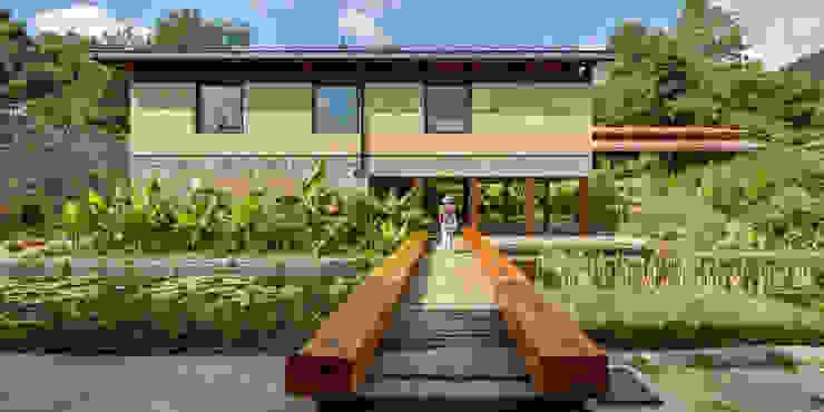 Jardin moderne par TAAR / TALLER DE ARQUITECTURA DE ALTO RENDIMIENTO Moderne