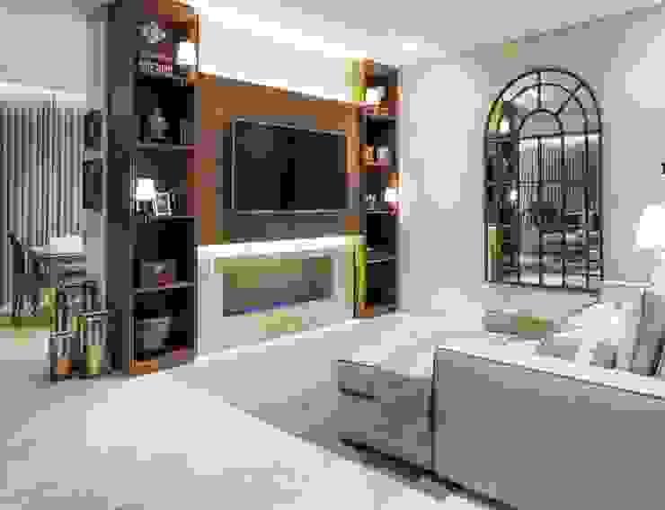 Casa Bairro Alphaville. Belo Horizonte Salas de estar clássicas por Rosangela C Brandão Interiores Clássico