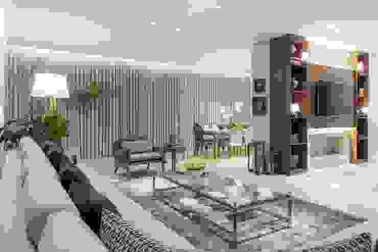 Casa Bairro Alphaville. Belo Horizonte Salas de estar modernas por Rosangela C Brandão Interiores Moderno