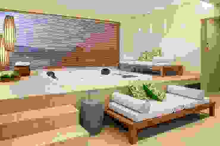 Casa Bairro Alphaville. Belo Horizonte Spa moderno por Rosangela C Brandão Interiores Moderno