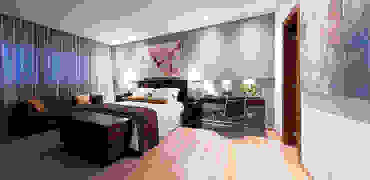 Apartamento Bairro Belvedere II Quartos modernos por Rosangela C Brandão Interiores Moderno