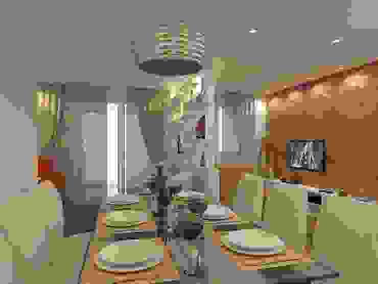 Sala de Jantar por Danielle David Arquitetura Moderno